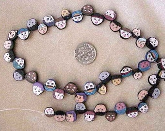 Kids Faces of the World Fimo Polymer Clay Beads 46
