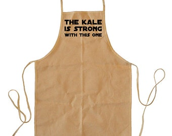 Funny Cooking or Gardening Apron - The Kale Is Strong With This One - Apron for Men or Women - Yard work / garden Kitchen Apron, Baking Gift