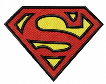 Superman Letter S...Instant Download...Pattern Fill Machine Embroidery DESIGN NO. 398