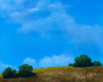 Hillside       Original Oil Landscape     8 X 8 inches