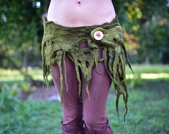 Felt Belt-Tree Costume-Tree Belt-Druid Costume-Woodland Theme-Pixie Belt-Fantasy Costume-Festival Wear-Burning Man-Performance Costume OOAK