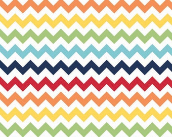 "Fat Quarters (18""x22"") ONLY - SMALL Rainbow Chevron From Riley Blake - Out of Print"