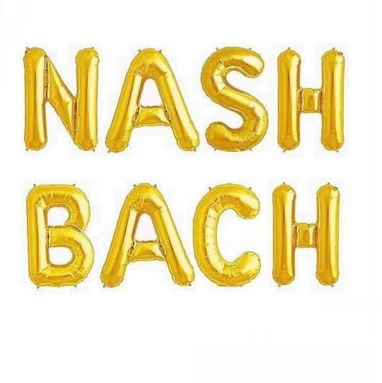 Nash Bach Balloons Nash Bash Balloon Letters Nashville