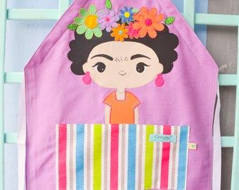 Delantal personalizado Frida Kahlo - familias que aman cocinar -  regalo personalizado - delantal costurilla