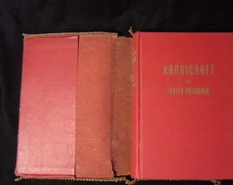 """Vintage 1944 Eight Edition """"Handicraft"""" by Lester Griswold Self Published"""