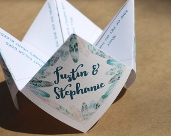 Wedding Guest Bingo Cootie Catcher (PDF - PRINTABLE)