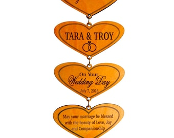 Wedding Gifts for Couple - Newlyweds Gift Personalized - Wedding Gift Ideas - Engagement Gift - Plaque