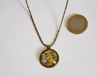 "Necklace - Planet - cabochon - ""Antichthon #5"""