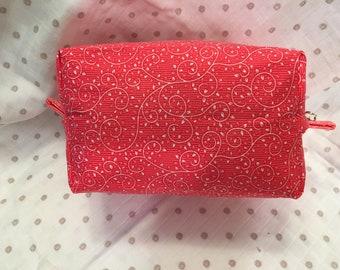 Cosmetic Bag, Makeup Bag, Zippered Bag, Toiletry Bag, Travel Bag, Accessory Bag