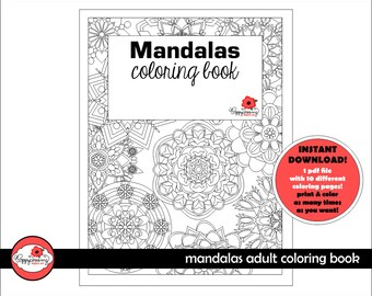 MANDALAS Adult Coloring Book: Coloring Book for Grown Ups and Kids by Poppydreamz