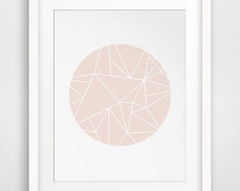 Pink Geometric Art, Pink Artwork, Minimalist Abstract Art, Pink Abstract Art, Pink Art Print, Modern Abstract Art, Pink Modern Print Art