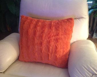 Burnt Orange Faux Pillow