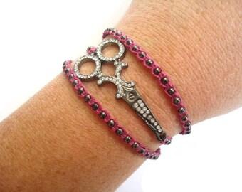 Hairstylist Bracelet, Scissor Bracelet, Shears Bracelet, Cosmetology Jewelry