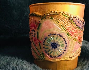Gilded Spring decorative tumbler