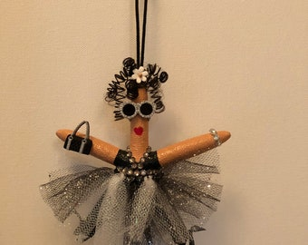 Starfish Ballerina ornament, gifts for ballerinas, personalized gift