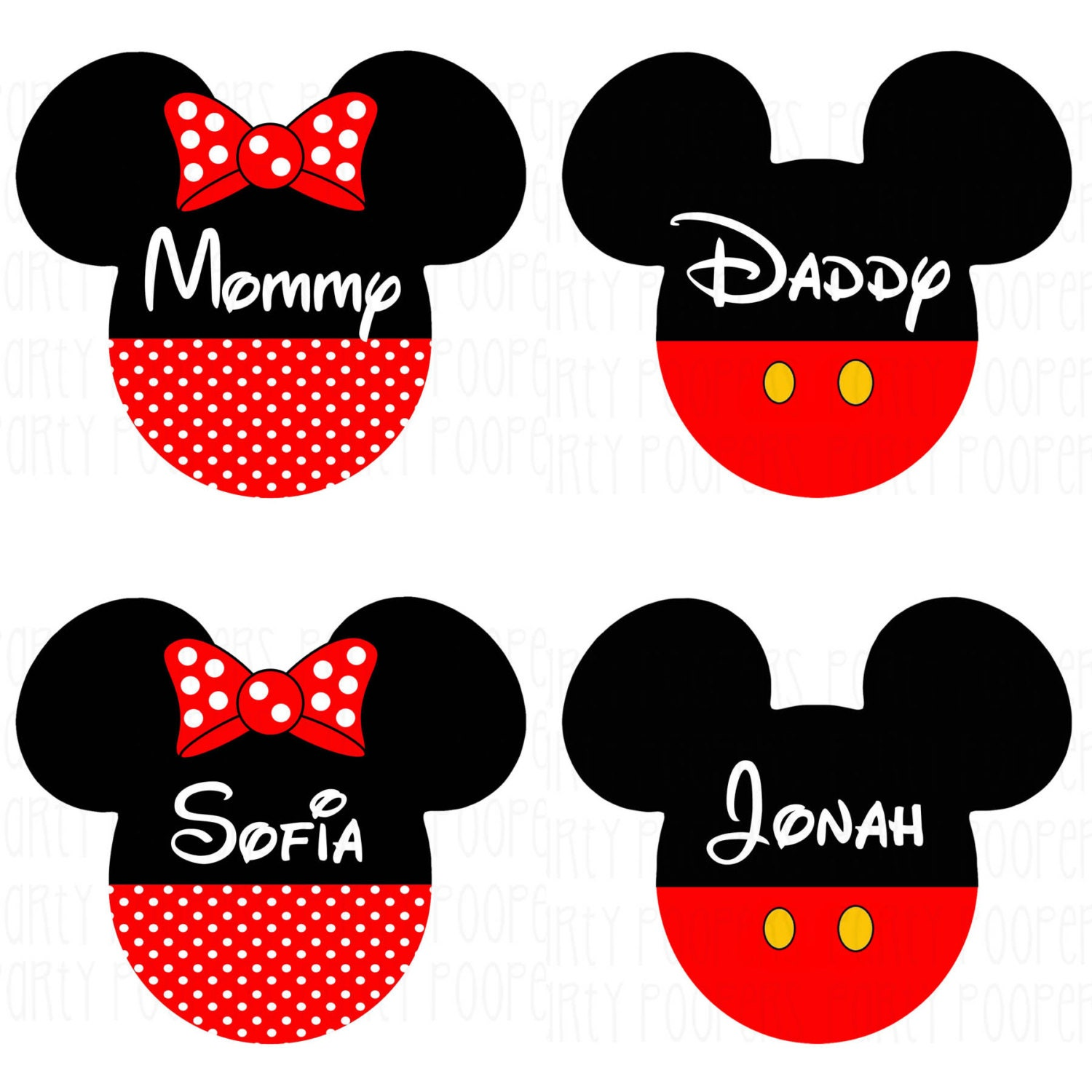 Personalized Disney Family Shirts Iron On Transfers Mickey