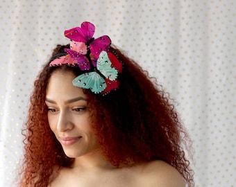 Tropical Butterfly Headband - fairy, bride, wedding, princess