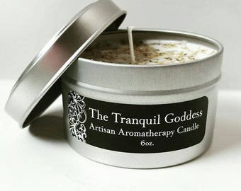 Peppermint and Lavender Aromatherapy Soy Tin Candle 6oz Spa Collection