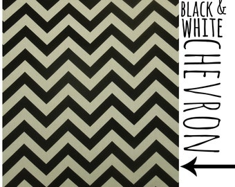 Black & White Chevron - Pillow Cover Only (teepee NOT included)
