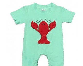 Baby Jumpsuit with red lobster
