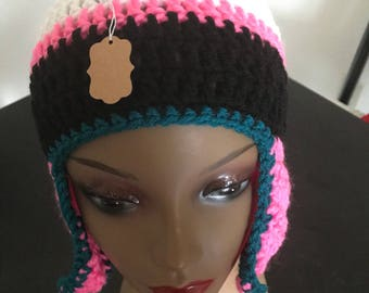 Jags Color Beanie With Pink