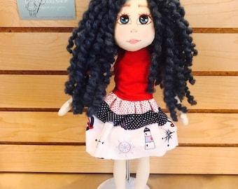 Interior doll, OOAK, Owl doll, Art doll, Handmade doll, Textile doll,Soft doll,Fabric doll, Cloth doll, Rag doll, handmade doll, unique doll