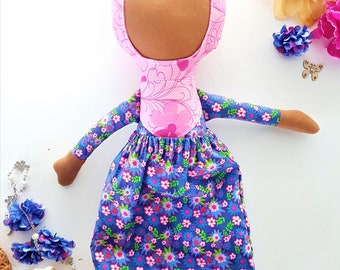 Anum - Handmade Fabric Doll Wearing Hijab