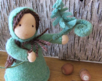 Fern Root Child Doll/Waldorf Nature Table Puppet