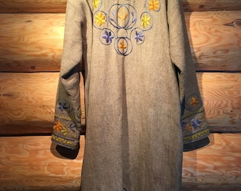 Hand-loomed & Embroidered Coat - Large/Extra Large
