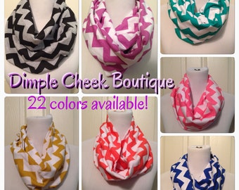 Chevron Scarf- now available in infintiy and regular scarves- 22 colors available