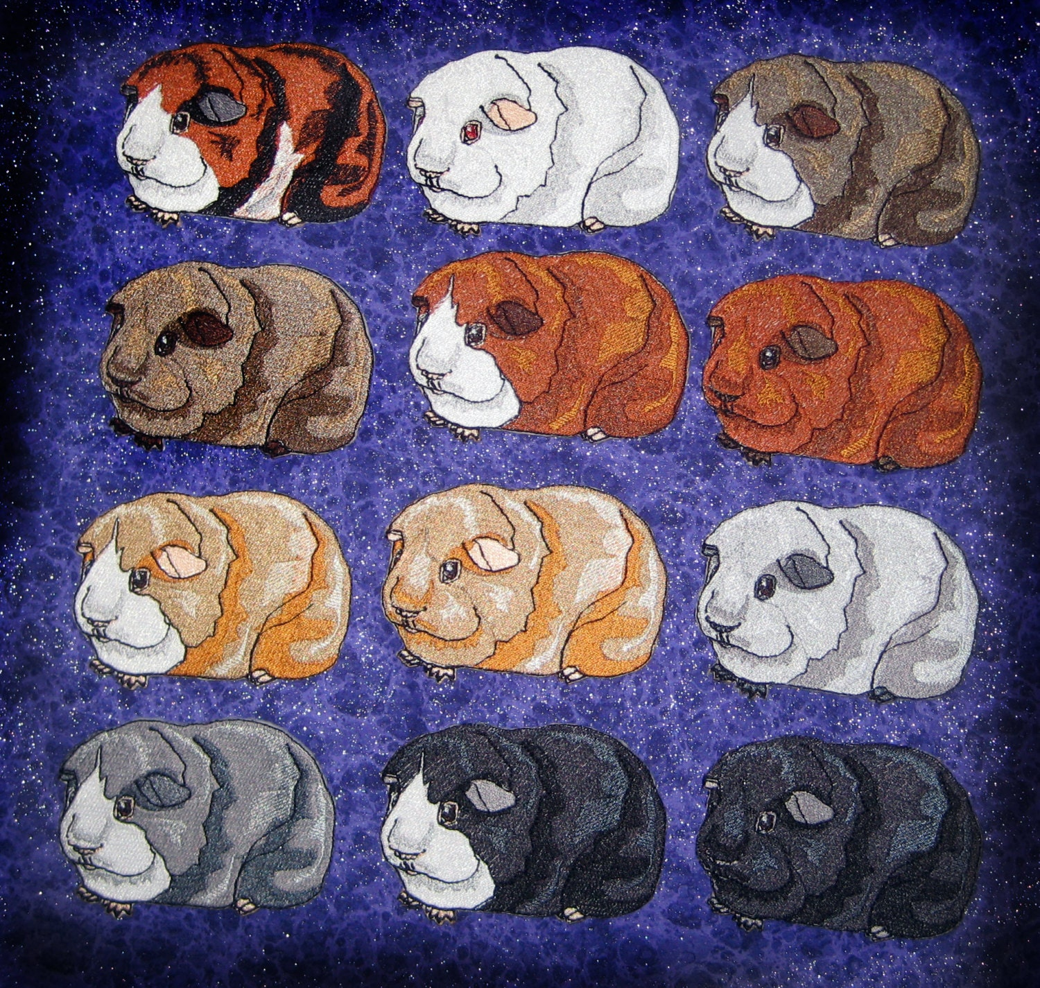Cute Guinea Pig Iron On Patch Lots Of Color Choices