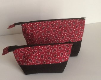 Small & medium makeup pouches- travel pouch- cosmetics bag