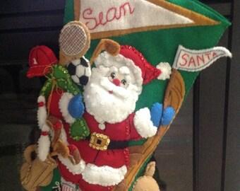 Bucilla Sport Santa Stocking
