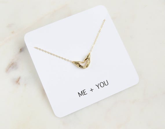 Me and You Necklace | Heart Necklace | Personalized Gift  | Gift For Her | Dainty Necklace | Anniversary Gift | Gift For Mom | Gift Ideas
