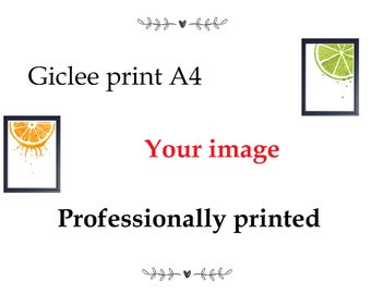 printing service A4 giclee print of your image print service any image epson printing service custom printing
