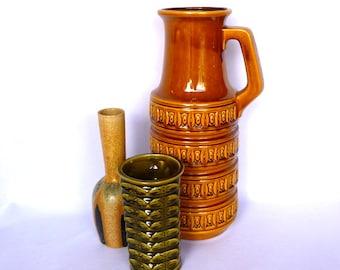 HUGE West GERMAN Mid Century Mod VASE/ Rare Vase