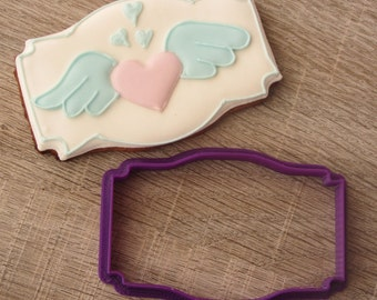 Plaque cookie cutter #09
