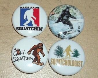 BIGFOOT / SASQUATCH pins buttons badges folklore cryptozoology cryptids Skookum northwest