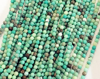 "Green Moss Opal -- 4mm, 6mm, 8mm, 10mm, Faceted Round beads, 16"" FULL Strand"
