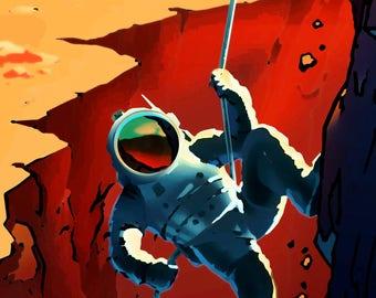 NASA Explorers Wanted Travel Poster Print