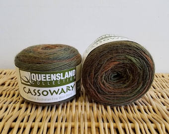 Wool Blend Sock Yarn, Gradient Sock Yarn, Cassowary by Queensland Collection, Rainforest 07