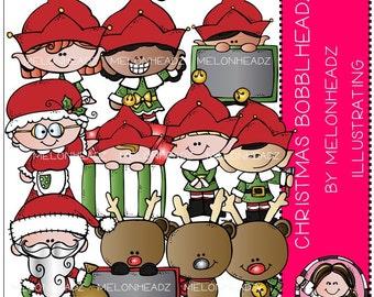 Christmas clip art - Bobbleheadz - Combo Pack