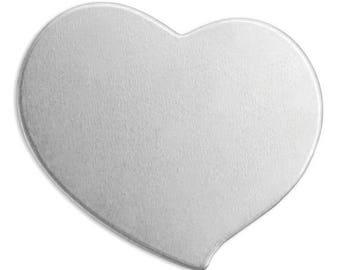 "ImpressArt Soft Strike Stamping Blanks, Swirly heart, 3/4"", set of 20!"