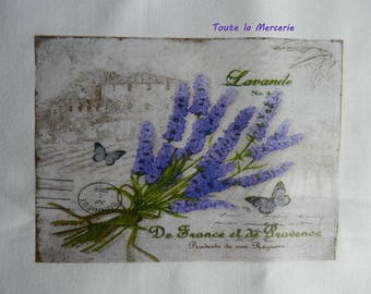 transfer 113.   OUR beautiful PROVENCE Lavender label transfer