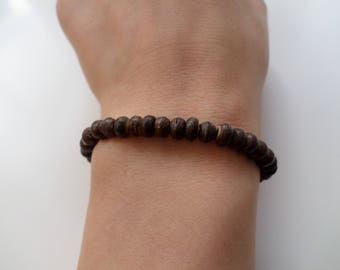 Coconut Bracelet - dark brown