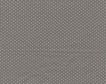 Taupe cotton with small white stars