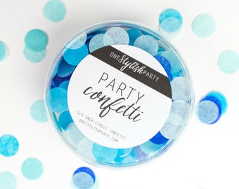 Party Confetti - Oceana - Shades of Blue Confetti - Boy Baby Shower Decorations
