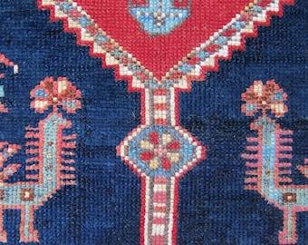 Fantastic, extremely rare, antique, cruciform, late 19th Shahsavan rug.