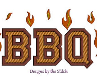 BBQ Grilling Grill Chef Cook Food INSTANT DOWNLOAD Embroidery Design Pattern 3 hoop sizes