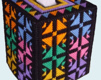 KALEIDOSCOPE - Bold and Beautiful Boutique Size Tissue Box Cover